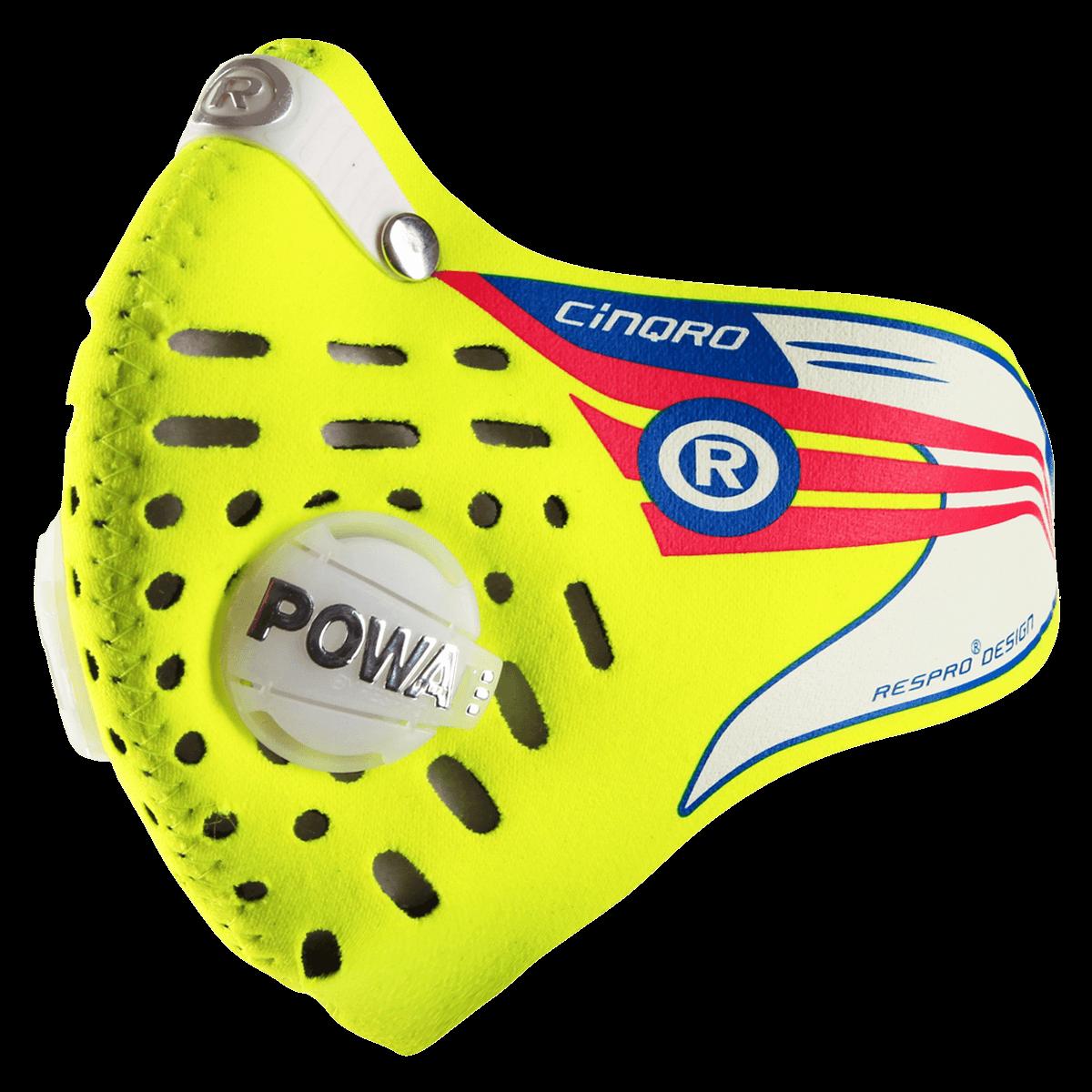 Maska antysmogowa Respro CINQRO MASK yellow fluo